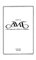 Journal of the Association for Music & Imagery : journal of the AMI