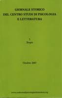 Giornale storico del Centro studi di psicologia e letteratura