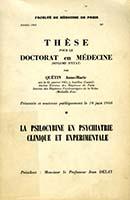 La psilocybine en psychiatrie clinique et expérimentale